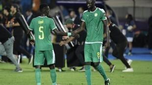 Idrissa Guèye et Cheikhou Kouyaté vainqueurs avec le Sénégal du Congo, lors de la première journée des éliminatoires de la CAN 2021.
