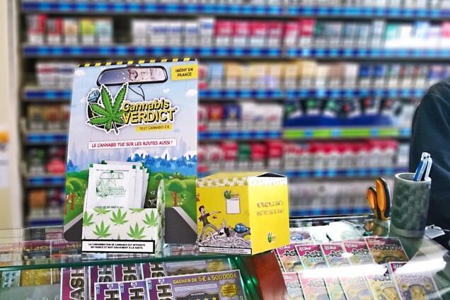 Os testes para maconha serão vendidos em lojas de cigarros em toda a França.
