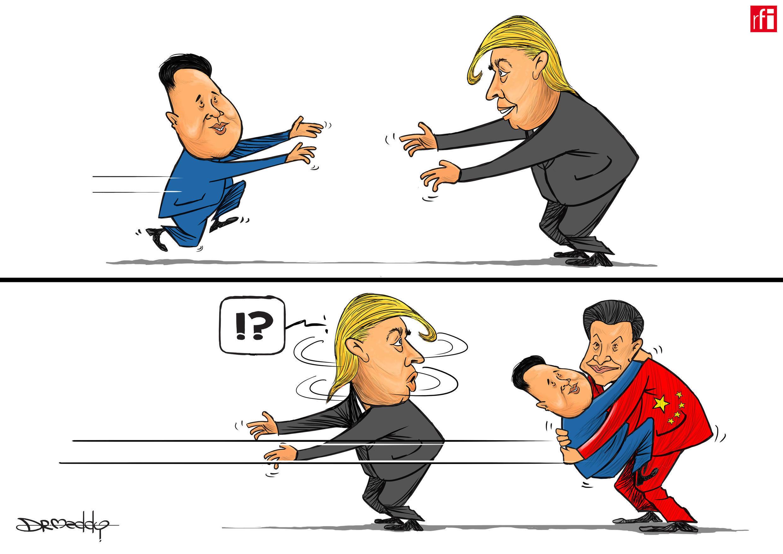 Shugaban Korea ta Arewa, Kim Jong-un ya kai wa shugaban China Xi Jinping ziyarar ba-zata gabanin ganawar shugabannin Korea ta Arewa da Amurka nan gaba (04/04/2018)