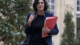 La ministra del Trabajo, Myriam El Khomri, el pasado 18 de febrero de 2016.