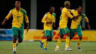 Les Bafana Bafana d'Afrique du Sud ont perdu contre la Mauritanie (3-1) à la deuxième journée des éliminatoires de la CAN 2017, le 6 septembre 2015.