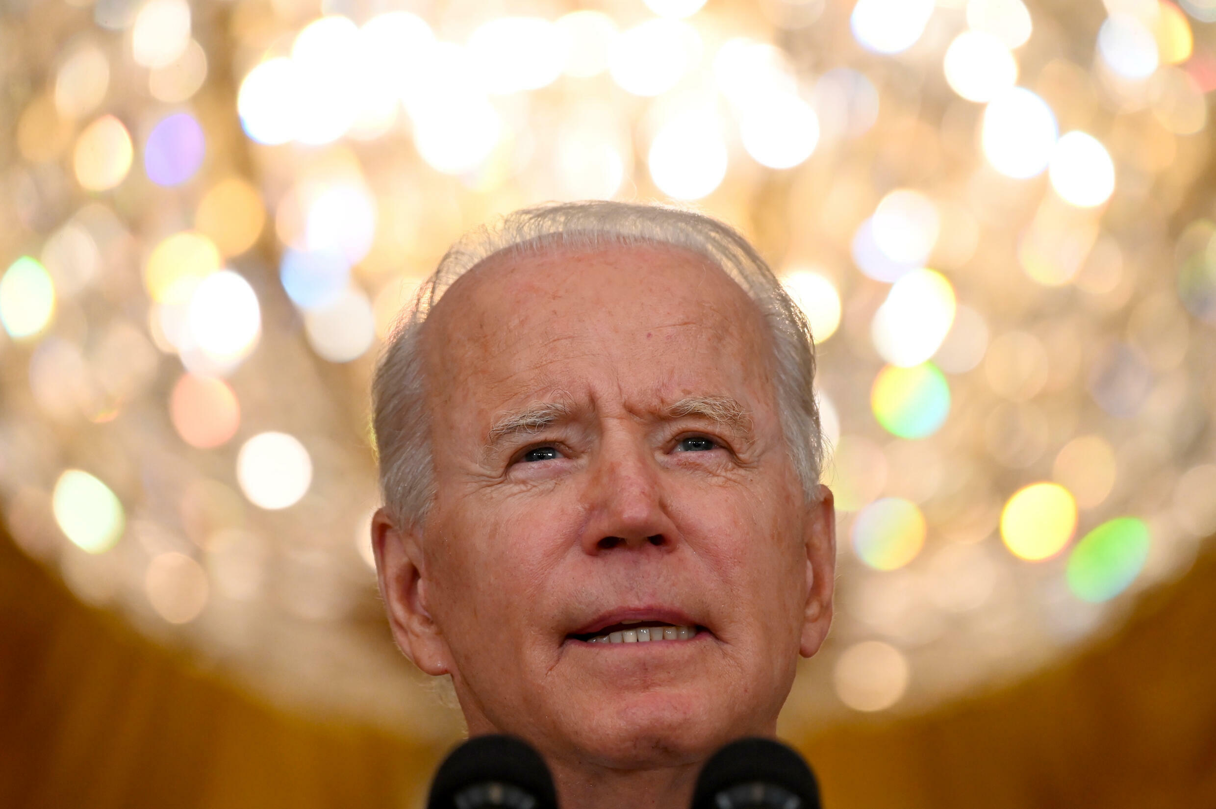 US President Joe Biden, shown at the White House on August 10, 2021, has made the comeback of democracy a theme under his presidency