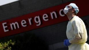 L'entrée des urgences de l'hôpital Chirec Delta, à Bruxelles en Belgique le 25 avril 2020 (image d'illustration).