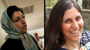 La militante des droits de l'homme iranienne Narges Mohammadi en 2001 (g.) et l'irano-britannique Nazanin Zaghari-Ratcliffe en 2016 (d.)
