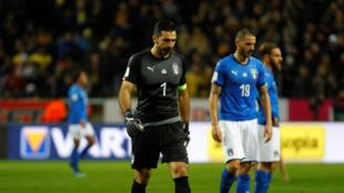 L'Italie de Buffon au bord d'une élimination de la Coupe du monde 2018.