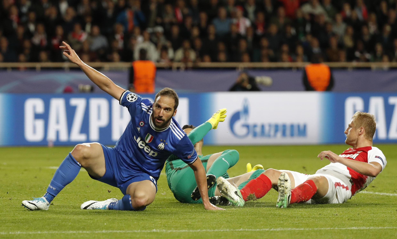 Gonzalo Higuain a été très efficace face à Monaco en demi-finale aller de la Ligue des champions. L'Argentin a inscrit les deux buts de la Juventus.