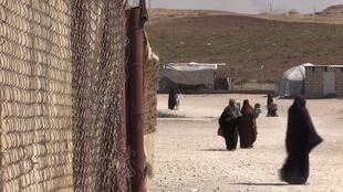 L'entrée du camp Roj où sont rassemblées les familles de jihadistes.