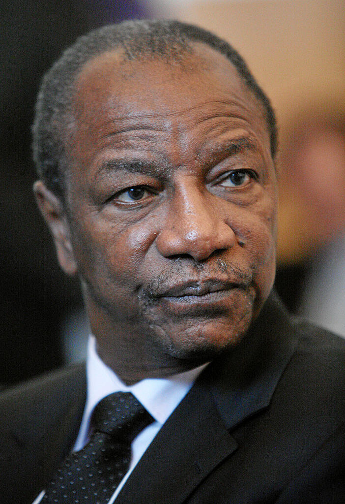 Alpha Conde, President of Guinea at the 2012 World Economic Forum in Davos