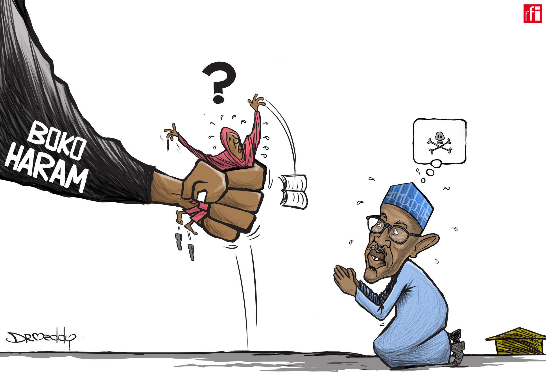 """""""Muna tattaunawa domin kubutar da 'yan matan da ran su, maimakon amfani da karfi - Buhari"""