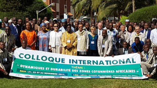 Colloque international sur les zones cotonnières africaines à Bamako, en novembre 2017.