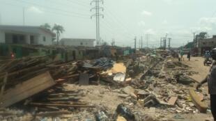 Gidajen 'yan arewa da hukumomi suka rusa a Surulere, Lagos