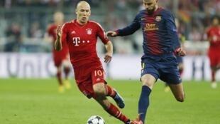 Mais uma duelo entre o Barcelona e o Bayern de Munique