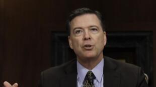 Giám đốc FBI James Comey trong phiên điều trần trước Thượng Viện Mỹ ngày 03/05/2017.