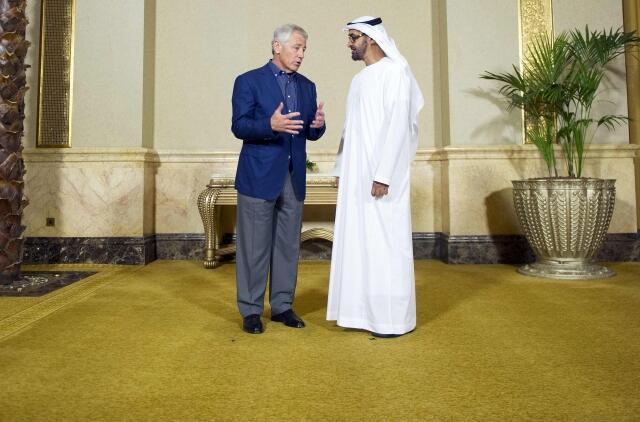 مذاکرات امشب Chuck Hagel  وزیر دفاع آمریکا با شاهزاده ولیعهد ابوظبی