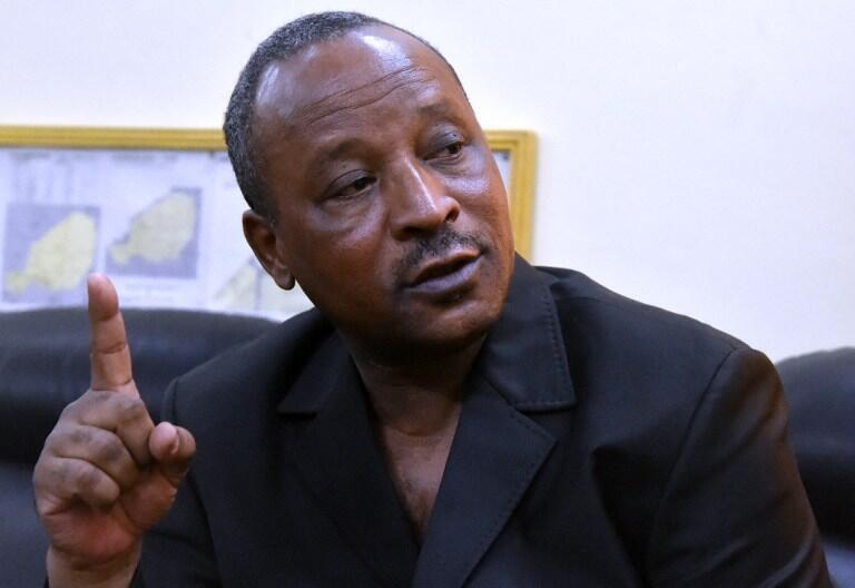 L'actuel ministre des affaires étrangères nigérien, Hassoumi Massaoudou, en février 2016. Il était à l'époque ministre de l'Intérieur du Niger.