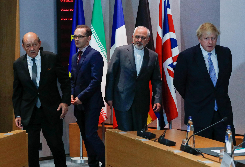 نشست وزرای امورخارجه آلمان، بریتانیا و فرانسه با جواد ظریف در بروکسل