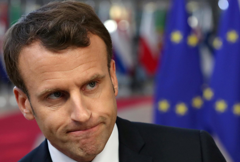 Tổng thống Emmanuel Macron trước giờ quyết định. Ảnh chụp ngày 10/04/2019 tại Bruxelles.
