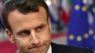 Le président français Emmanuel Macron, ici le 10 avril 2019 à Bruxelles.