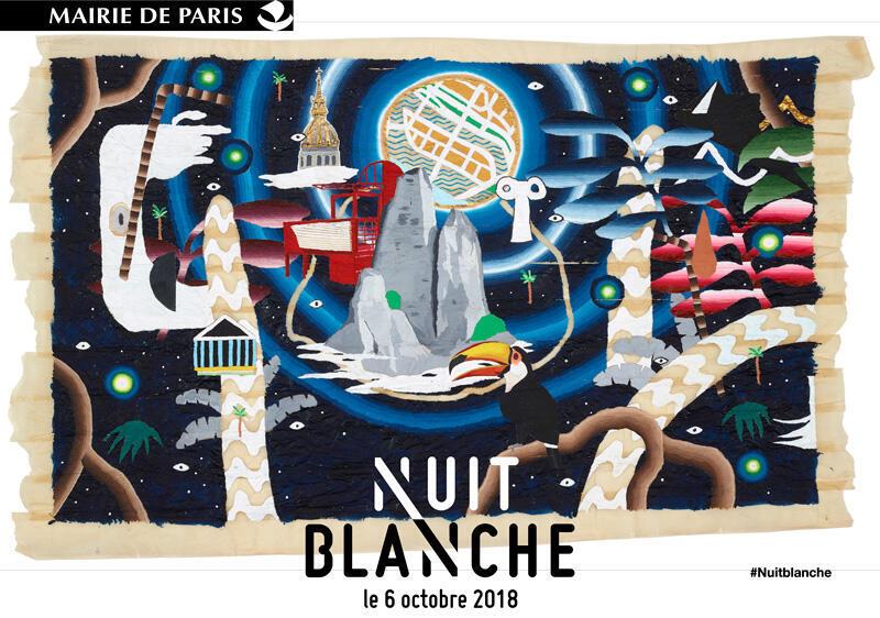 L'affiche officielle de « NL'affiche officielle de « Nuit Blanche » 2018 à Paris a été dessiné par Samuel Trenquier.