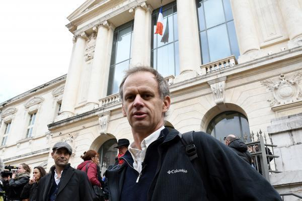 Pierre-Alain Mannoni, a 45-year-old teacher-researcher following his acquittal at the Courthouse in Nice on 7 January, 2017.