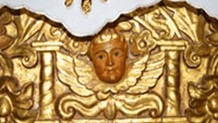 Altar (detalle) de la iglesia de San Ignacio de Velasco, antiguamente de San Miguel Arcángel.