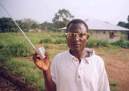 Radio listener in Sierra Leone
