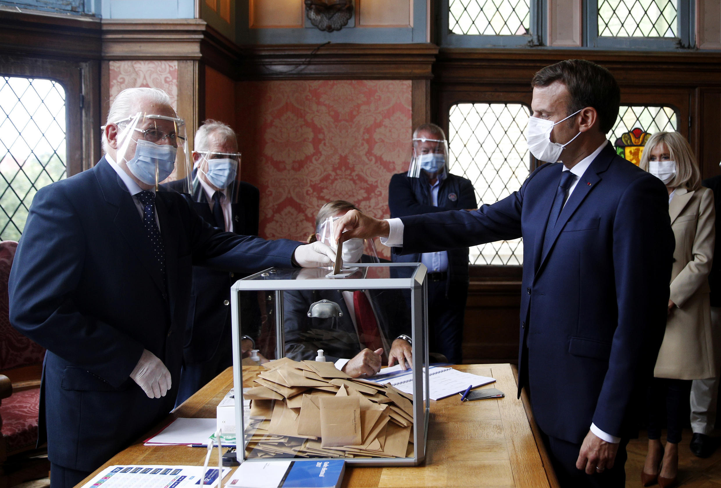 French President Emmanuel Macron votes in second round of municipal elections_28 June 2020_Reuters-Yoan Valat