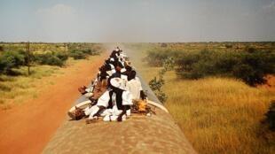 Train crossing South Sudan