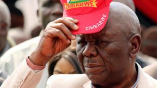Le leader de l'opposition zimbabwéenne, le Mouvement pour le changement démocratique (MDC), Morgan Tsvangirai, à Harare, au Zimbabwe, le 5 août 2017.