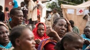 Des déplacés dans un camp de la Croix-Rouge, à Wau (nord-ouest du Soudan du Sud), le 1er juillet 2016.