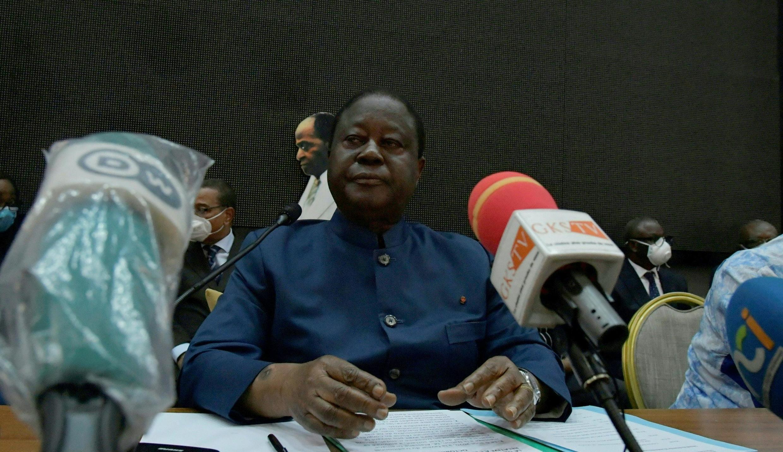 Rais wa zamani wa Cote d'Ivoire, Henri Konan Bédié Septemba 20, 2020 huko Abidjan.