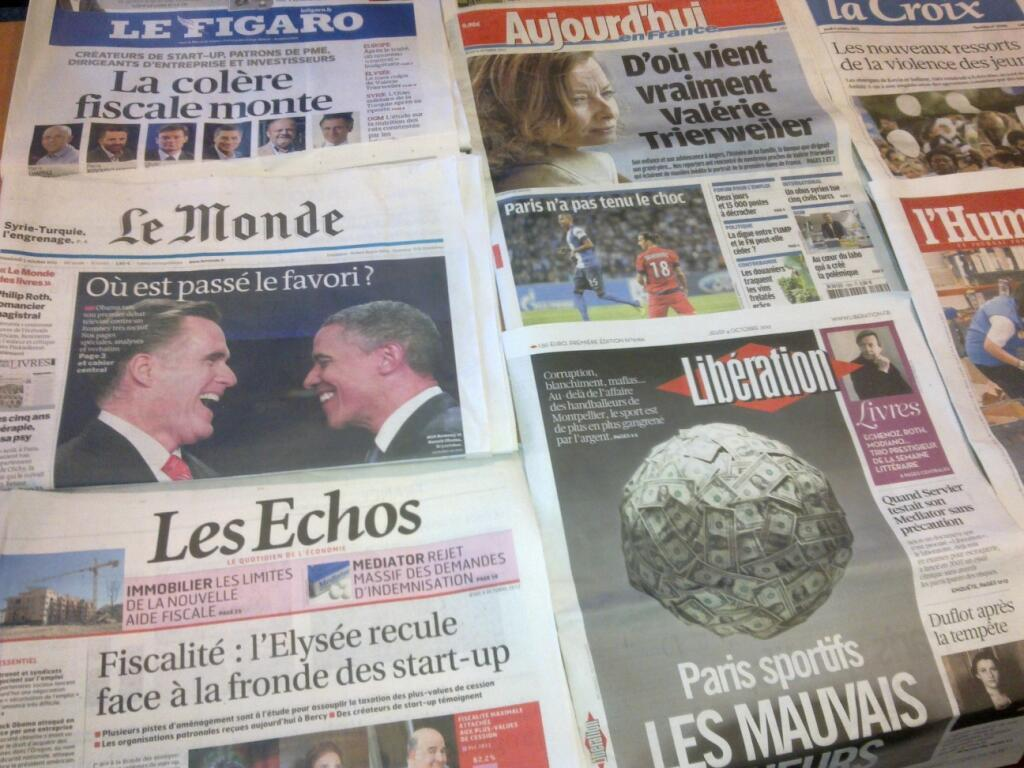 Diários franceses   04/10/2012