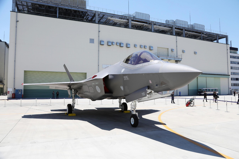 Chiến đấu cơ  F-35A, sản phẩm quốc phòng hàng đầu của Nhật, do Mitsubishi lắp ráp. Ảnh chụp ngày 05/06/2017.