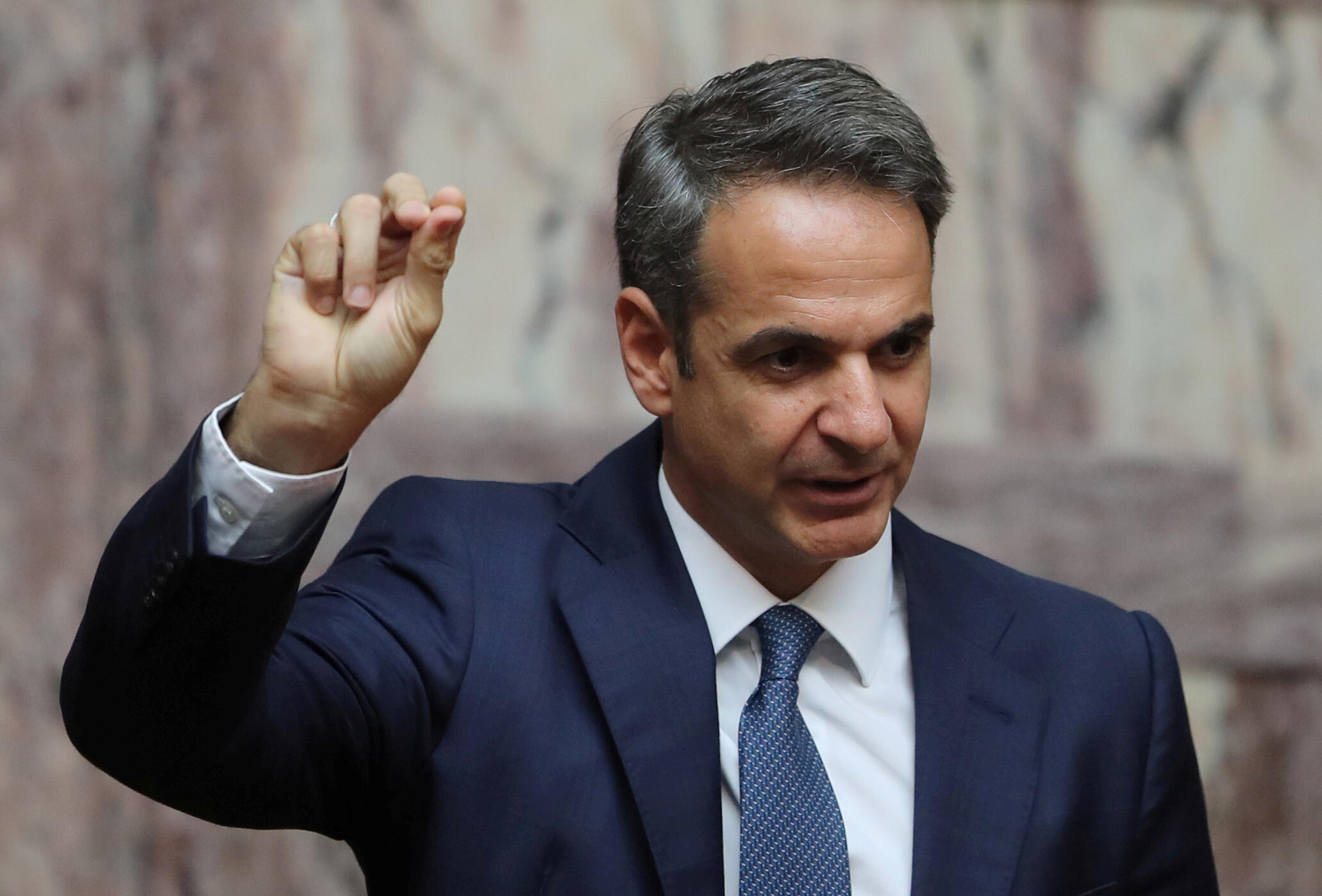 Le nouveau Premier ministre conservateur Kyriakos Mitsotakis, vainqueur des législatives du 7 juillet 2019.