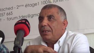 Messaoud Romdhani, président du Forum tunisien pour les droits économiques et sociaux, FTDES (capture d'écran).