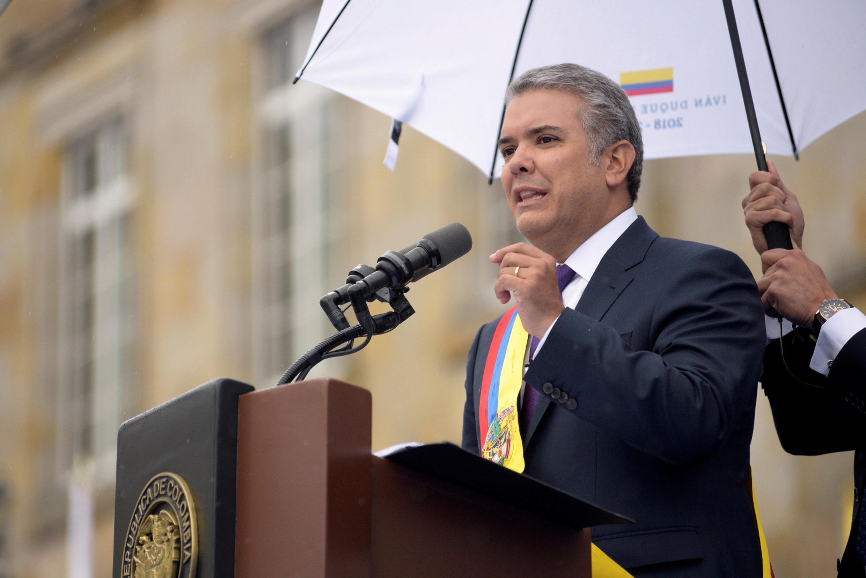 Ivan Duque ametawazwa kuwa rais wa Colombia kwa muhula wa miaka minne,Jumanne Agosti 7, 2018 huko Bogota.