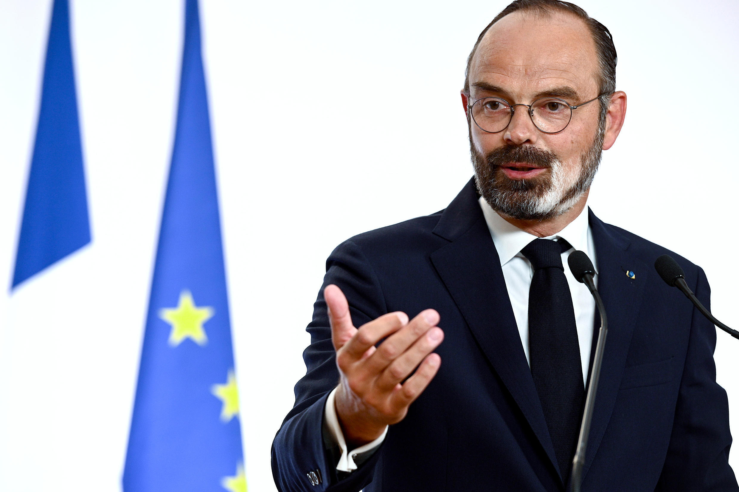 French Prime Minister Edouard Philippe, 28 May 2020 at a press conference in Paris.