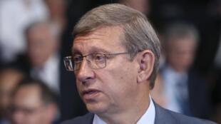 Vladimir Evtouchenkov, président du conseil d'administration  de la holding AFK Sistema, à Saint-Petersbourg, le 23 mai 2014.