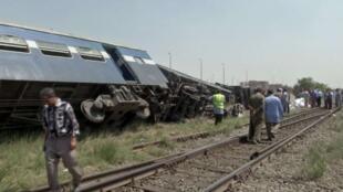 Colisão de trens em Alexandria, no Egito