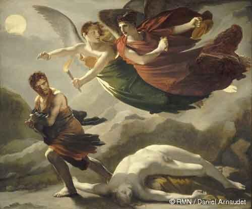 Crime chased by justice and divine vengence by Pierre-Paul Prud'hon