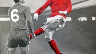 «And Number One Was Georgie Best...», 2013, de Chris Beas, présenté dans l'exposition «la Grande Galerie du foot», à la Villette.