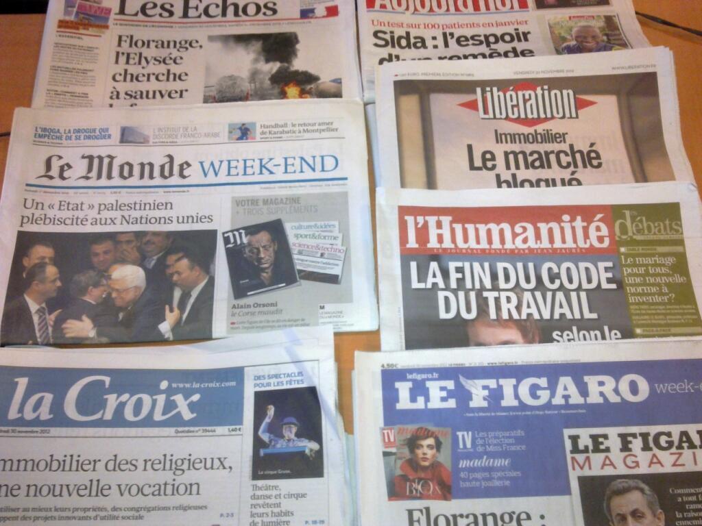 Diários franceses  30/11/2012