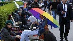 Na segunda-feira já havia fila em frente à Suprema Corte.