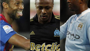 'Yan wasan da CAF ta ware Seydou Keita, dan kasar Mali da Dan kasar Ghana André Ayew, da  Yaya Touré na Manchester City.