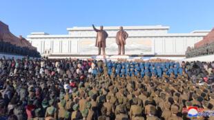 Quảng trường Kim Nhật Thành tại Bình Nhưỡng, nơi Bắc Triều Tiên tổ chức rầm rộ 70 năm ngày thành lập Quân Đội Nhân Dân. (Ảnh minh họa)