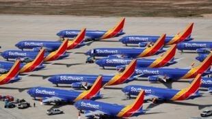 (Ảnh minh hoạ) – Máy bay Boeing 737 MAX 8 của hãng hàng không Southwest Airlines tại sân bay Victorville, California, Hoa Kỳ, ngày 26/03/2019.
