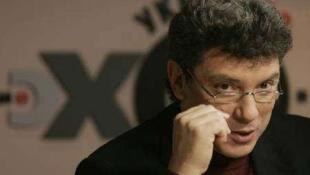 "Борис Немцов, политик, сопредседатель партии ""РПР-ПАРНАС"""