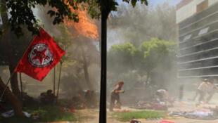 Explosion meurtrière à Suruç, en Turquie, ce lundi 20 juillet 2015.