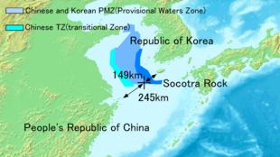 Bãi đá ngầm Socotra nằm trong vùng phòng không của Hàn Quốc (wikipedia.org)