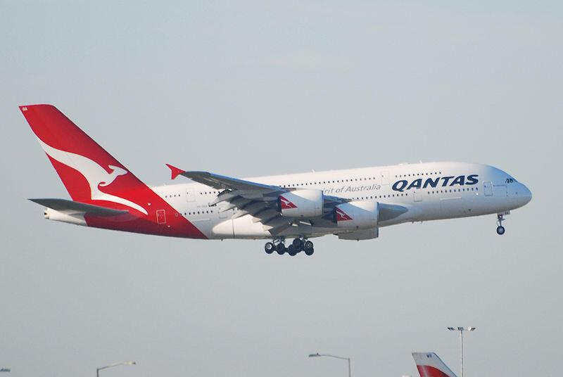 Un Airbus A380 da companhia australiana Qantas.